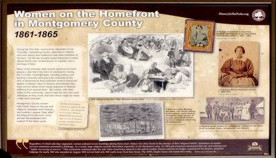 Women on the Homefront in Montgomery County Marker image. Click for full size.