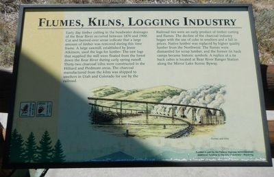 Flumes, Kilns, Logging Industry Plaque image. Click for full size.