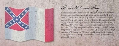 National Flags of the Confederate States of America 1861-1865 Marker - Third National Flag image. Click for full size.