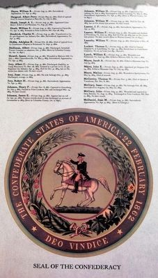 Muster Roll of Company H, 22nd Regiment Marker - List of Service Members image. Click for full size.