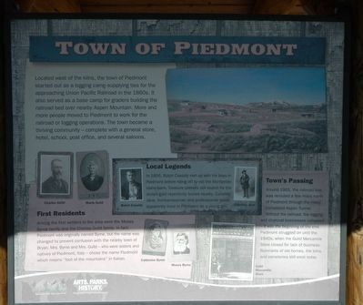 Town of Piedmont panel image. Click for full size.