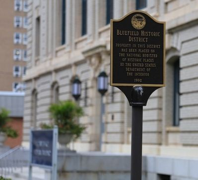 Bluefield Historic District Marker image. Click for full size.