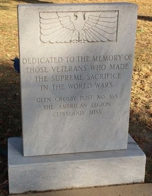 Bolivar County Veterans Memorial Marker image. Click for full size.