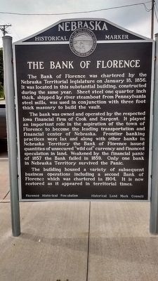 The Bank of Florence Marker image. Click for full size.
