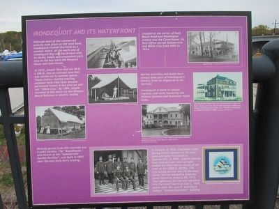Irondequoit and its Waterfront Marker image. Click for full size.