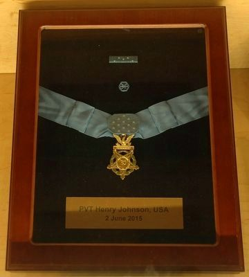 Henry Johnson's Medal of Honor image. Click for full size.
