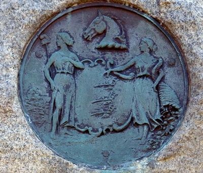 New Jersey State Seal on the 14th NJ Monument image. Click for full size.