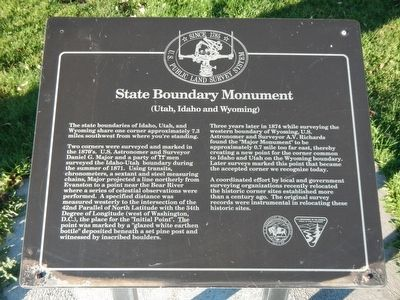 State Boundary Monument Marker image. Click for full size.