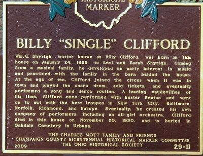 Billy Single Clifford Marker image. Click for full size.