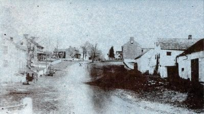 Bridge over Rocky Fountain Creek, 1870 image. Click for full size.
