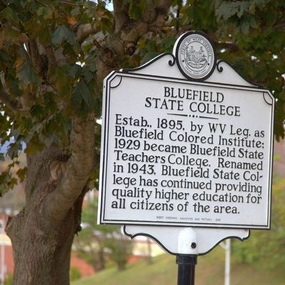 Bluefield State College Marker image. Click for full size.