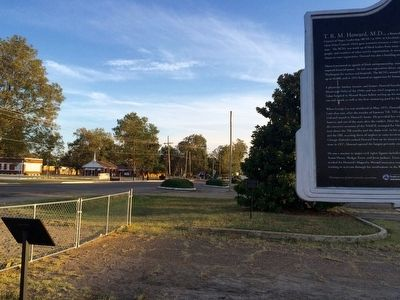 View of marker (on far right) looking south on Edwards Avenue. image. Click for full size.