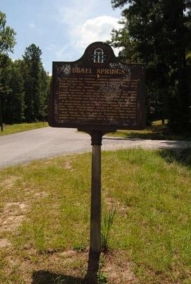 Beall Springs Marker image. Click for full size.