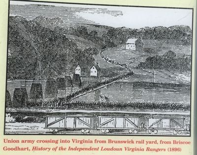 Union army crossing into Virginia image. Click for full size.