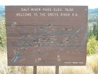Map of the Greys River Ranger District image. Click for full size.
