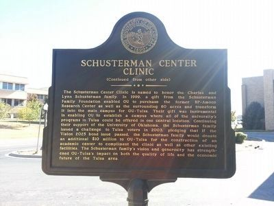 Schusterman Center Clinic Marker (side 2) image. Click for full size.
