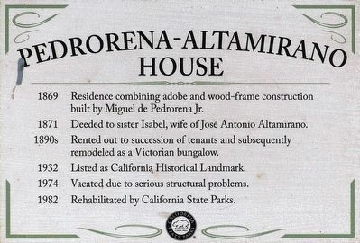 Pedrorena-Altamirano House image. Click for full size.