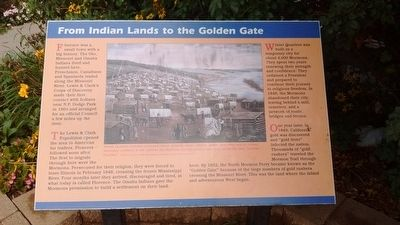 From Indian Lands to the Golden Gate Marker image. Click for full size.