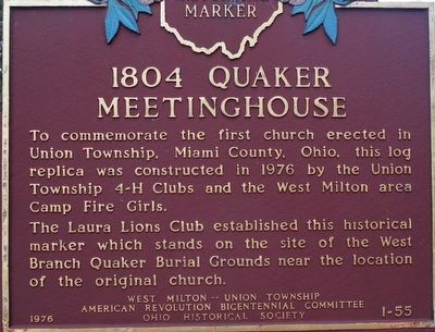 1804 Quaker Meeting House Marker image. Click for full size.