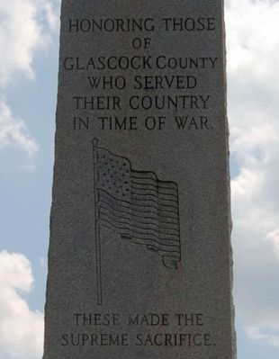 Glascock County Veterans Monument - Top Portion image. Click for full size.