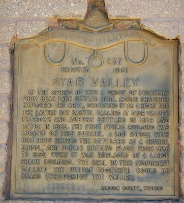 Star Valley Marker image. Click for full size.