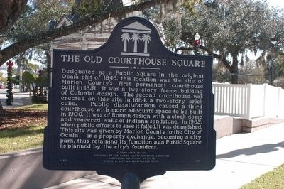 The Old Courthouse Square Marker image. Click for full size.