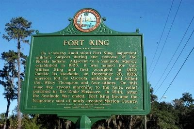 Fort King Marker image. Click for full size.