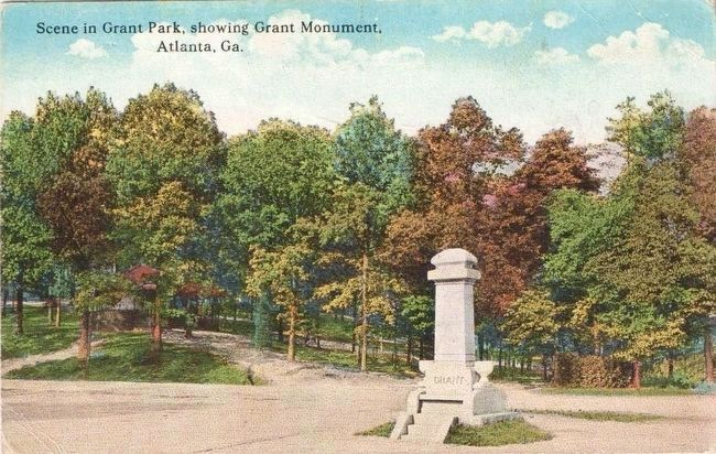 <i>Scene in Grant Park, Showing Grant Monument, Atlanta, Ga.</i> image. Click for full size.