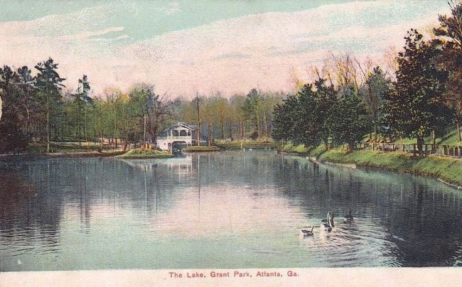 <i>The Lake, Grant Park, Atlanta, Ga.</i> image. Click for full size.