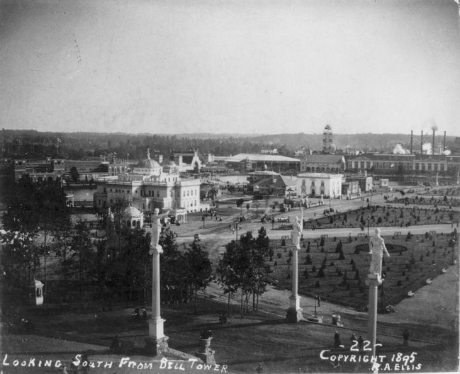 Atlanta Cotton Exposition: <i>Looking South from Bell Tower</i> image. Click for full size.