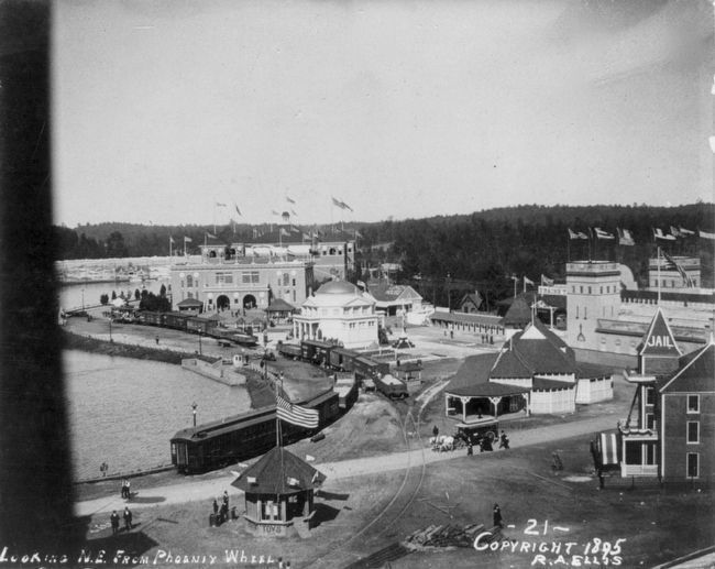 Atlanta Cotton Exposition: <i>Looking N.E. from Phoenix Wheel</i> image. Click for full size.