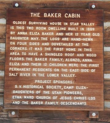 The Baker Cabin Marker image. Click for full size.