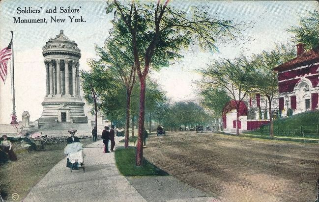 <i>Soldiers&#39; and Sailors&#39; Monument, New York.</i> image. Click for full size.