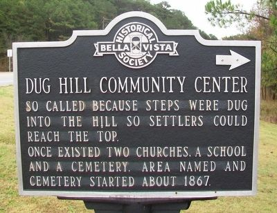 Dug Hill Community Center Marker image. Click for full size.