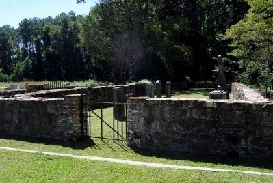 Stone Wall Surrounding the Talbot Family Plot image. Click for full size.