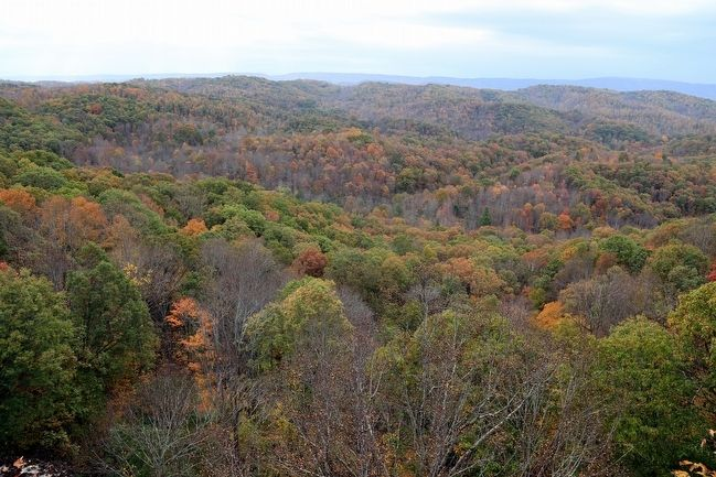 "View from the Overlook. ""Several Counties can be Seen"" image. Click for full size."