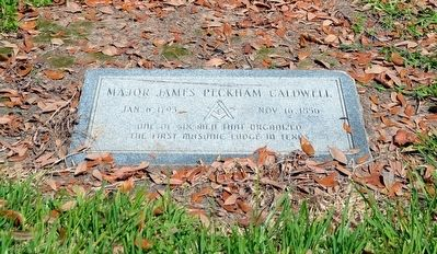 Headstone next to Major James Peckham Caldwell Marker image. Click for full size.