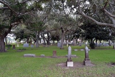 Historic Section of Gulf Prairie Cemetery image. Click for full size.