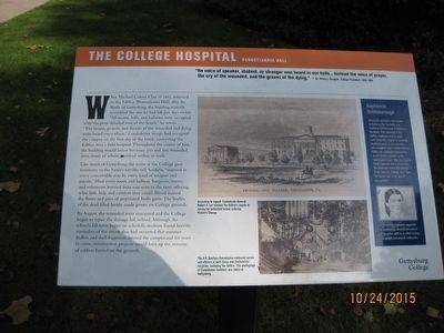 The College Hospital Marker image. Click for full size.