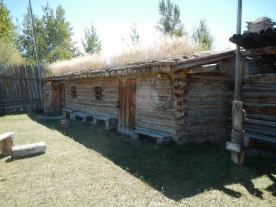 Bridger's Stockade (reconstructed) image. Click for full size.