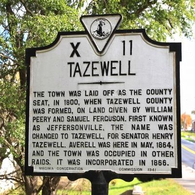 Tazewell Marker image. Click for full size.