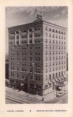 <i>Hotel Yancey •  Grand Island, Nebraska</i> image. Click for full size.