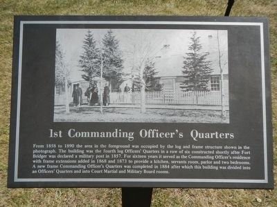 1st Commanding Officer's Quarters Marker image. Click for full size.