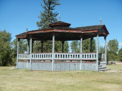 Bandstand located on the Fort Bridger parade ground image. Click for full size.