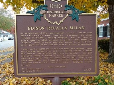 Edison Recalls Milan Marker image. Click for full size.