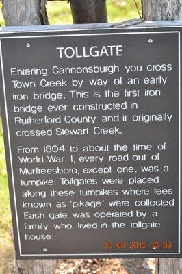 Tollgate Marker image. Click for full size.