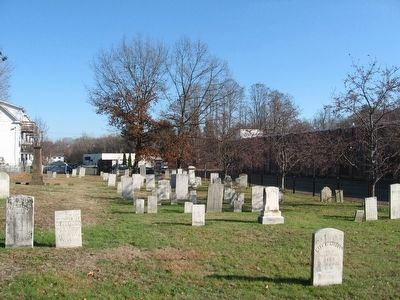 Gravestones in The Old Terryville Cemetery image. Click for full size.