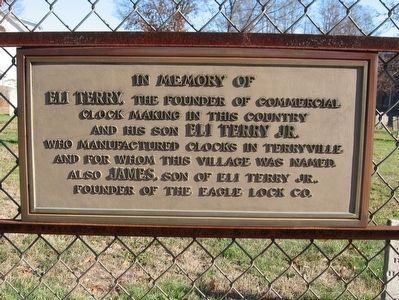 Marker on the Gate of The Old Terryville Cemetery image. Click for full size.