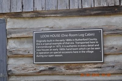 Loom House (One-Room Log Cabin) Marker image. Click for full size.