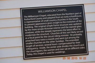 Williamson Chapel Marker image. Click for full size.